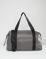Pieces Textured Travel Bag With Contrast Strap