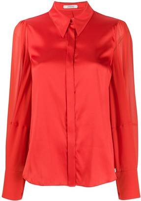 Dorothee Schumacher Pointed Collar Silk Shirt