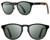 Shwood Men's 'Francis' 49Mm Polarized Titanium & Wood Sunglasses - Black/ Walnut