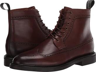 Polo Ralph Lauren Asher Wing Tip Boot (Brown Dress Calf) Men's Shoes