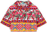 Dolce & Gabbana Mini Me short cut printed brocade jacket Maiolica