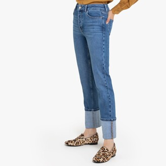 """La Redoute Collections Straight High Waist Jeans, Length 29.5"""""""
