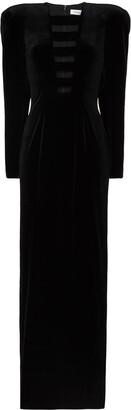 Mônot Cut-Out Velvet Maxi Dress