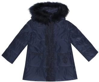 MonnaLisa Fur-trimmed puffer coat