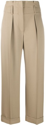 Brunello Cucinelli High-Rise Cropped Trousers