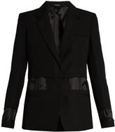 Maison Margiela Single-breasted exposed-lining wool jacket