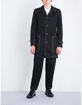 Comme Des Garcons Shirt Contrast-stitching Cotton-drill Coat