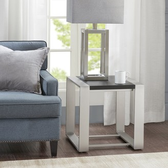 Madison Home USA Lane Black and Silver End Table