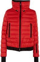 Moncler Vonne Hooded Quilted Down Jacket - Red