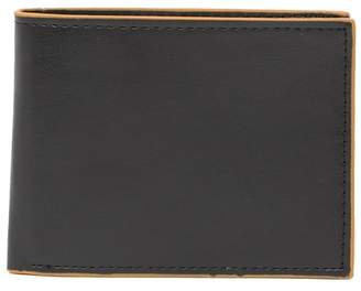 Tallia Bifold Leather Wallet with Multicolor Edges