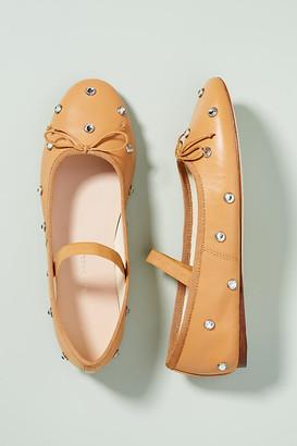 Loeffler Randall Leonie Embellished Ballet Flats By in Beige Size 7