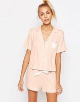 Asos Traditional Shirt & Short Pajama Set