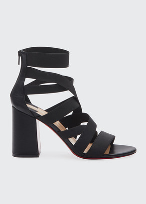 Christian Louboutin Gladiapop 85 Banded Red Sole Sandals