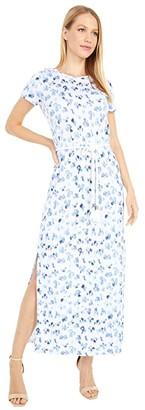 MICHAEL Michael Kors Ikat Belt T-Shirt Dress (White) Women's Dress