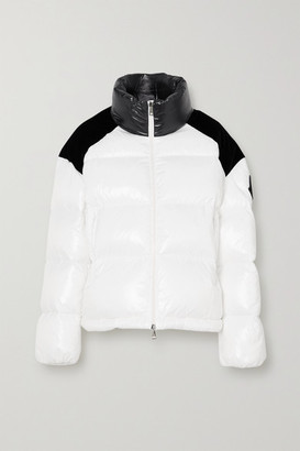Moncler Chouelle Velvet-trimmed Printed Quilted Glossed-shell Down Jacket - White
