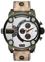 Diesel R) Little Daddy Leather Strap Chronograph Watch, 52mm