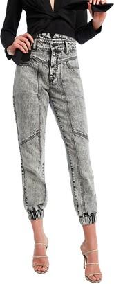 Bardot Acid Wash Splice Jeans