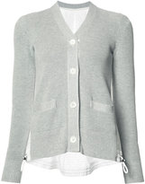 Sacai buttoned cardigan - women - Cotton/Polyester - 3