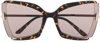 Tom Ford Gia oversize frame sunglasses