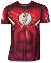 Bioworld DC Comics Mens Flash Suit Up Sublimated Costume T-shirt XL