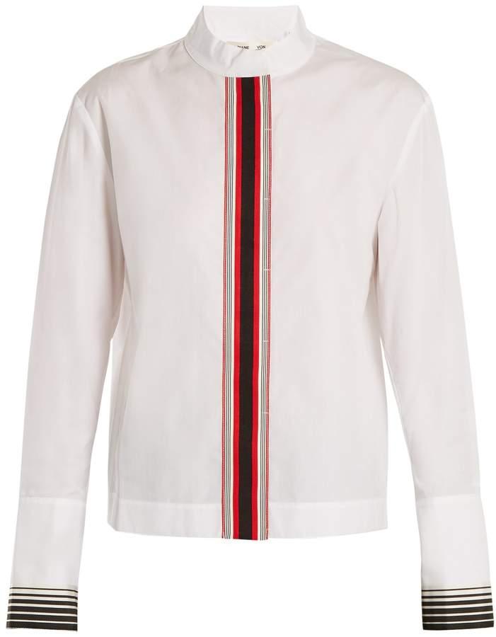 Diane von Furstenberg Ribbon button-down cotton shirt