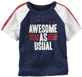 "Osh Kosh Boys 4-7x Patriotic ""Awesome As Usual"" Tee"