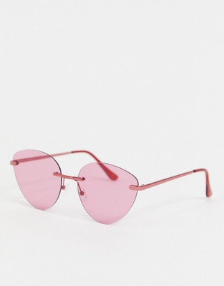 Jeepers Peepers pink tint sunglasses