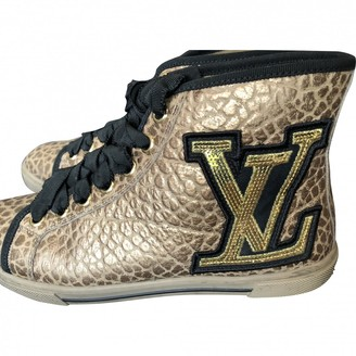 Louis Vuitton Gold Leather Trainers