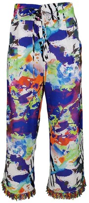 Lalipop Design Multi-Color Digital Print Wide-Leg Pants