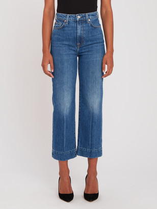 7 For All Mankind Baby Jo High Rise Crop Wide Leg Jeans