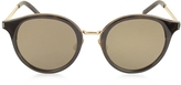 Saint Laurent SL 57 Acetate and Metal Round-Frame Unisex Sunglasses