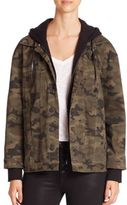 Hudson Emmet Camo Hooded Boyfriend Jacket