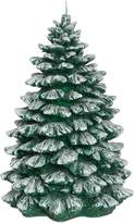 Linea Green Frosted Tree Candle