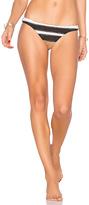 Pilyq Stitched Basic Teeny Bikini in Black. - size L (also in M,S)