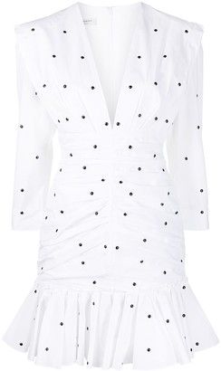 Philosophy di Lorenzo Serafini plunging V-neck polka-dot dress