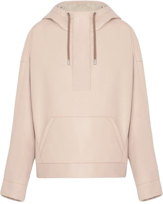 Fenty by Rihanna Oversized faux leather hoodie