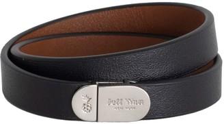 Jeff Wan Leather Bracelet With Magnetic Closure Black Manhattan