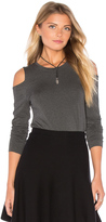 1 STATE Long Sleeve Cold Shoulder Top
