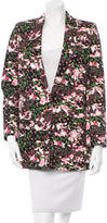 Givenchy Structured Floral Print Blazer