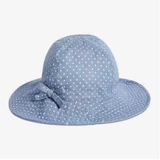 Joe Fresh Toddler Girls' Chambray Sun Hat, Blue (Size 4-5)