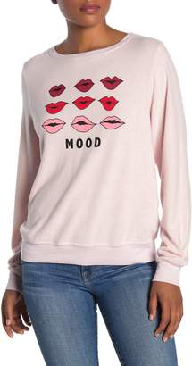 Wildfox Couture Moody Lips Pullover Sweater