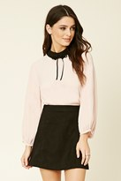 Forever 21 FOREVER 21+ Collared Tie-Neck Top