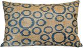 Orientalist Home Cemile 16x24 Silk-Blend Pillow, Blue