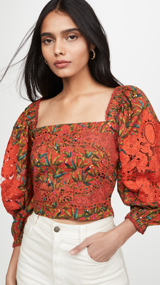 Farm Rio Liberty Lace Blouse