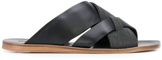 Brunello Cucinelli Interlock Beaded Sandals