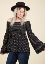 ModCloth Flirt and Foremost Long Sleeve Top in XL