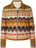 Lanvin intarsia zipped shirt jacket