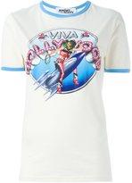 Jeremy Scott pin-up girl print T-shirt