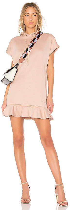 Carven Hoodie Dress With Ruffles