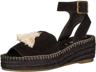 Soludos Women's PEEP-Toe Platform (60 MM) Wedge Sandal Black 11 B US